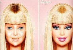The power of make up,lmao Barbie after a long night