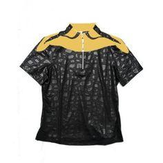 Jamie Sadock Buttercup Women's Black Embossed Leopard Short Sleeve Polo Golf Shirt-Buttercup #buttercup #NewJamieSadock #GolfTops #GolfJackets #GolfSkorts #golfshorts #golfpants #blackandwhite #orangeandyellow #brightjamie #newstyles #fabulousgolfclothing #womensgolfclothing #ladiesproshop