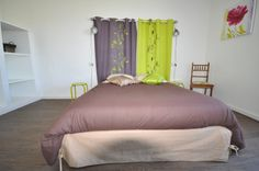 Chambre . Bed, Furniture, Home Decor, Wisteria Tree, Bedrooms, Colors, Decoration Home, Stream Bed, Room Decor