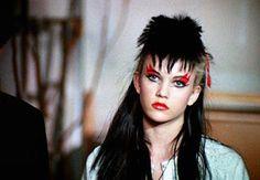 "Diane Lane as Corinne ""Third-Degree"" Burns in ""Ladies and Gentleman, The Fabulous Stains"" Burlesque Makeup, Mode Punk, Foto Fashion, 80s Punk Fashion, Denim Fashion, Homemade Halloween Costumes, Punk Goth, Girls Makeup, Makeup Ideas"