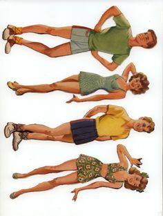 merrill 'first date' paper dolls (eddie, margie, lee, judy)