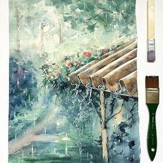 watercolor art by fashion sketch, drawing, art Watercolour Tutorials, Fashion Sketches, Mixed Media Art, Watercolor Paintings, Like4like, Portraits, Sketch Drawing, Drawing Art, Photo And Video