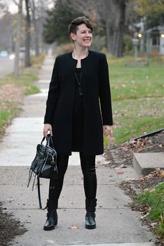 Already Pretty outfit featuring longline blazer, duster, black leggings, black ankle boots, Rebecca Minkoff Jealous tote bag