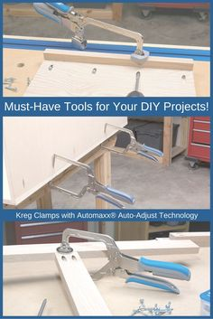 Easily hold your DIY projects securely in place with Kreg Clamps with Automaxx® Auto-Adjust Technology