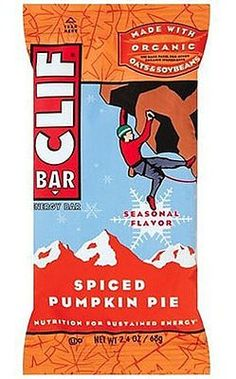 Clif Bar Energy Bars, Spiced Pumpkin Pie 12 Count Good Source of Protein. No Trans Fats. 23 Vitamins & Minerals. 70% Organic Ingredients.  #Clif_Bar #Grocery