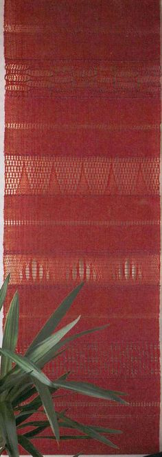 """Here's a great way to learn a variety of leno pick-up techniques, all in one stunning wall hanging! Rigid Heddle Leno Weave Wall Hanging, Finished size is 19"""" x 57""""."""