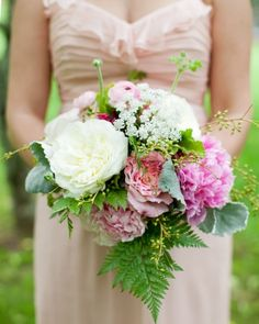 Can you name any of the flowers in this lush bouquet?