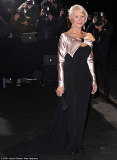 Helen Mirren in Bruce Oldfield, took home the award for Best Actress at the Evening Standard Awards 2013.