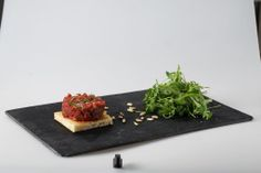 Fassona Tartare with black olives Tropea onions and traditional balsamic vinegar