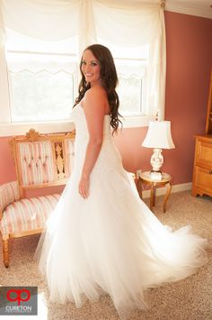 The bride in the bridal suite. Jessica + Taylor's wedding at Lenora's Legacy.