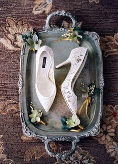Wedding shoes idea; photo: Jose Villa