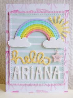 Baby Ariana - 2015-06-12 - koolkittymusings.typepad.com using Dear Lizzy Fine & Dandy papers and Lawn Fawn dies