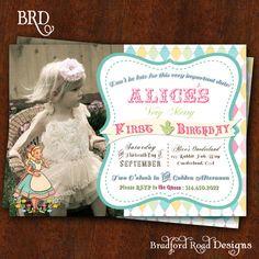 Alice in Wonderland Invitation Alice in by BradfordRoadDesigns, $20.00