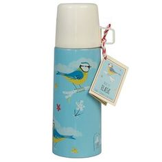 Blue Bird Flask And Cup