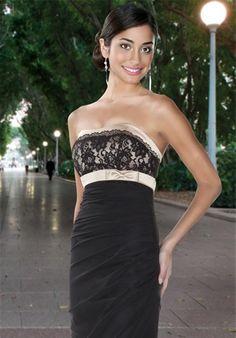 DaVinci Bridesmaids black bridesmaids dress