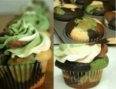 camp cupcakes for soldier or duck dynasty birthday