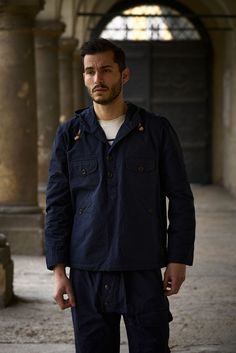 Hooded smock jacket made from a water repellent cotton fabric by The British Millerain Co. Made in France. Cold Day, Smocking, Hoods, Cotton Fabric, Jackets, Collection, Fashion, Street Style, Flowers