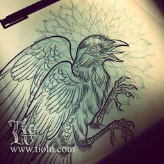 Crow with Mandala