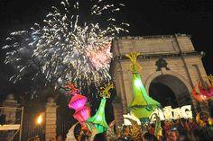 Image: New Year's Eve celebrations in Dublin, Ireland. (© Clodagh Kilcoyne/Rex Features)
