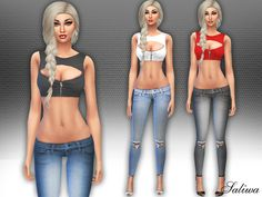 The Sims Resource: Spirit Outfit by Saliwa • Sims 4 Downloads