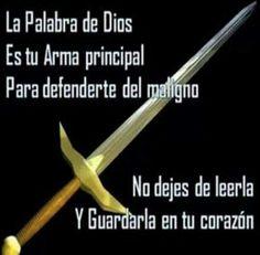 La palabra de Dios es tú arma principal para defenderte del maligno