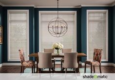Faux Wood blinds offer the look and style of Real Wood, yet are a practical alternative. They are easy to clean and maintain.#windowtreatments, #blinds, #decorideas
