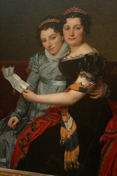 Portrait of the Sisters Zenaide and Charlotte Bonaparte 1821, Jacques-Louis David (1748-1825)