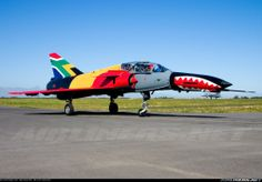 South African Air Force Atlas Cheetah D Military Jets, Military Aircraft, Fighter Aircraft, Fighter Jets, South African Air Force, F4 Phantom, Aircraft Painting, Nose Art, Aviation Art