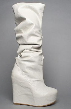 Jeffrey Campbell  The Comma Boot in Ice Nylon