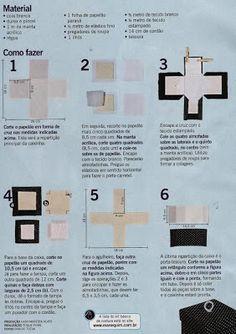 ARTESANATO COM QUIANE - Paps,Moldes,E.V.A,Feltro,Costuras,Fofuchas 3D: Pap Caixa de costura
