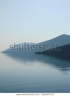 Water Landscape Sea Mountains Stock Photo (Edit Now) 1582487713 Photo Editing, Royalty Free Stock Photos, Sea, Mountains, Landscape, Illustration, Water, Photography, Outdoor