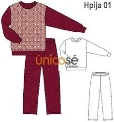 PIJAMA CUELLO POLO HOMBRE. Babydoll Sheep, Polo Neck, Underwear, Patterns, Men, Sewing
