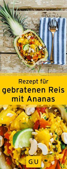 """Exotisches Rezept für gebratenen Reis mit Ananas aus dem Buch """"Zwei Pfannen on the Road"""". ⎜GU"""
