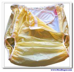 Free shipping fuubuu2219-yellow-m-1pcs couche adulte pañal pañales para adultos no desechable pvc cortos pañales para adultos