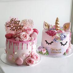 Unicorn and drip cake