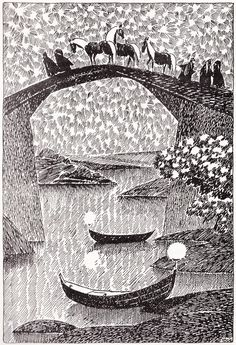 Tove Jansson illustrated J.R.R Tolkiens The Hobbit for the 1962 swedish edition