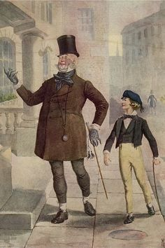 Mr Micawber, young Copperfield - 18 Vintage Photos Of Charles Dickens' London. #books #dickens