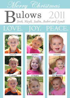 Love, Joy, Peace @ http://www.etsy.com/listing/83083740/custom-personalized-merry-christmas