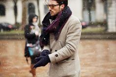 beige coat winter style