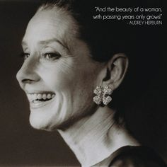 aging gracefully.~ the beautiful, charming & talented Audrey Hepburn.