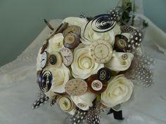 Ivory rose vintage watch face Steampunk bouquet   www.MadamPaloozaEmporium.com www.facebook.com/MadamPalooza