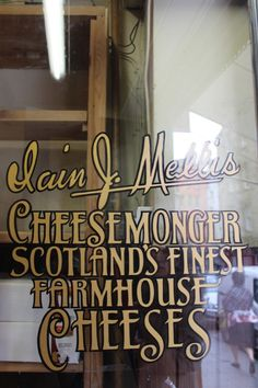 ༺✿༺ Cheesemonger, an absolute must for cheese lovers when in Edinburgh or St Andrews!