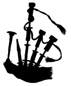 Image result for irish bagpipe silhouettes