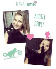 Dia das mães Mi e seu  adotado fofo Dewey Ser mãe de gato é bom demais, é um amor incondicional, há quem diga que os gatos são interesseiros, não se apegam, são indiferentes, mas eu posso afirmar que todas essas afirmações não passam de grandes mentiras! Dewey retribui todo o amor que dou a ele, é super carinhoso e apegado à mim. Já passamos por grandes momentos de dificuldade, mas nunca desisti dele, e acredito que sim, o Amor pode salvar vidas! Feliz dia das mães à todas as mamães! ❤