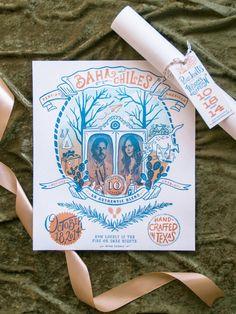 Pale Pink & Blue Wedding Invitation - 2015 Favorite Invites   Snippet & Ink