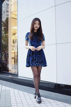 Get this look: http://lb.nu/look/8584571  More looks by Rachel T: http://lb.nu/rachelnotberry  Items in this look:  Forever 21 Blue And Black Floral Velvet Dress, Dr. Martens Black Shoes   #chic #elegant #romantic
