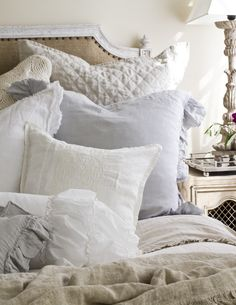 Pom Pom at Home - Warmth Company Coastal Master Bedroom, Master Room, Master Bedrooms, Dream Bedroom, Bliss Home And Design, Nautical Bedding, Shabby Chic Pillows, Chic Bedding, Beautiful Bedrooms