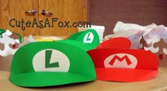Mario and Luigi visors