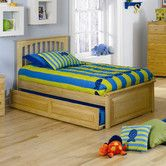 Found it at Wayfair - Brooklyn Platform Bed with Raised Panel Footboard and Trundle in Natural Maple
