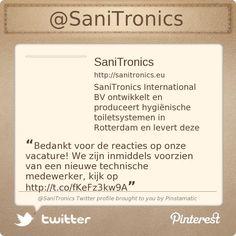 Bedankt voor de reacties op onze vacature! We zijn inmiddels voorzien van een nieuwe technische medewerker, kijk op http://www.sanitronics.eu/vacatures.html